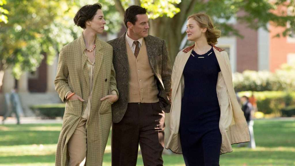 Image still from Professor Marston and the Wonder Woman (2019)- with Luke Evans, Rebecca Hall, and Bella Heathcote.