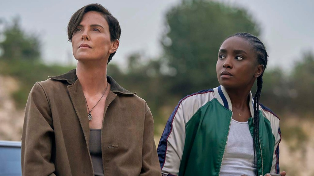 Image still from The Old Guard (2020)- with Charlize Theron and Kiki Layne
