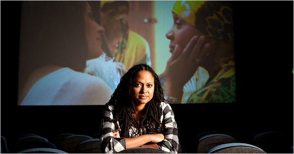 Image of Ava DuVernay before a screen of her film, I Will Follow (2010)